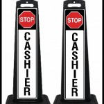 SSPB-P9 Stop Cashier Signs