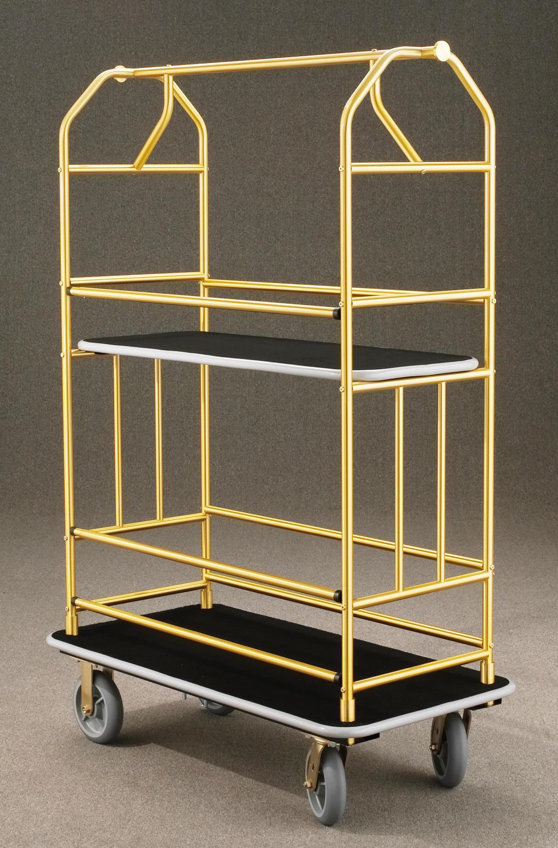 5440BE Satin Brass Bellman Cart