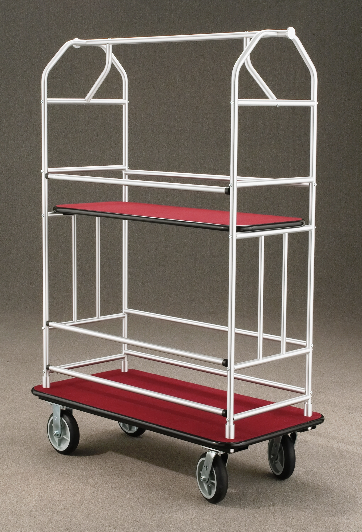 5440SA Satin aluminum Bellman Cart