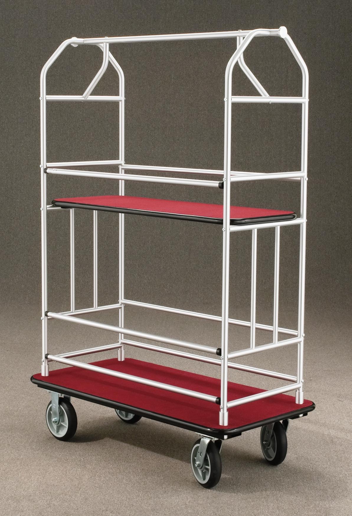 5440SA Satin aluminum Bellman Cart