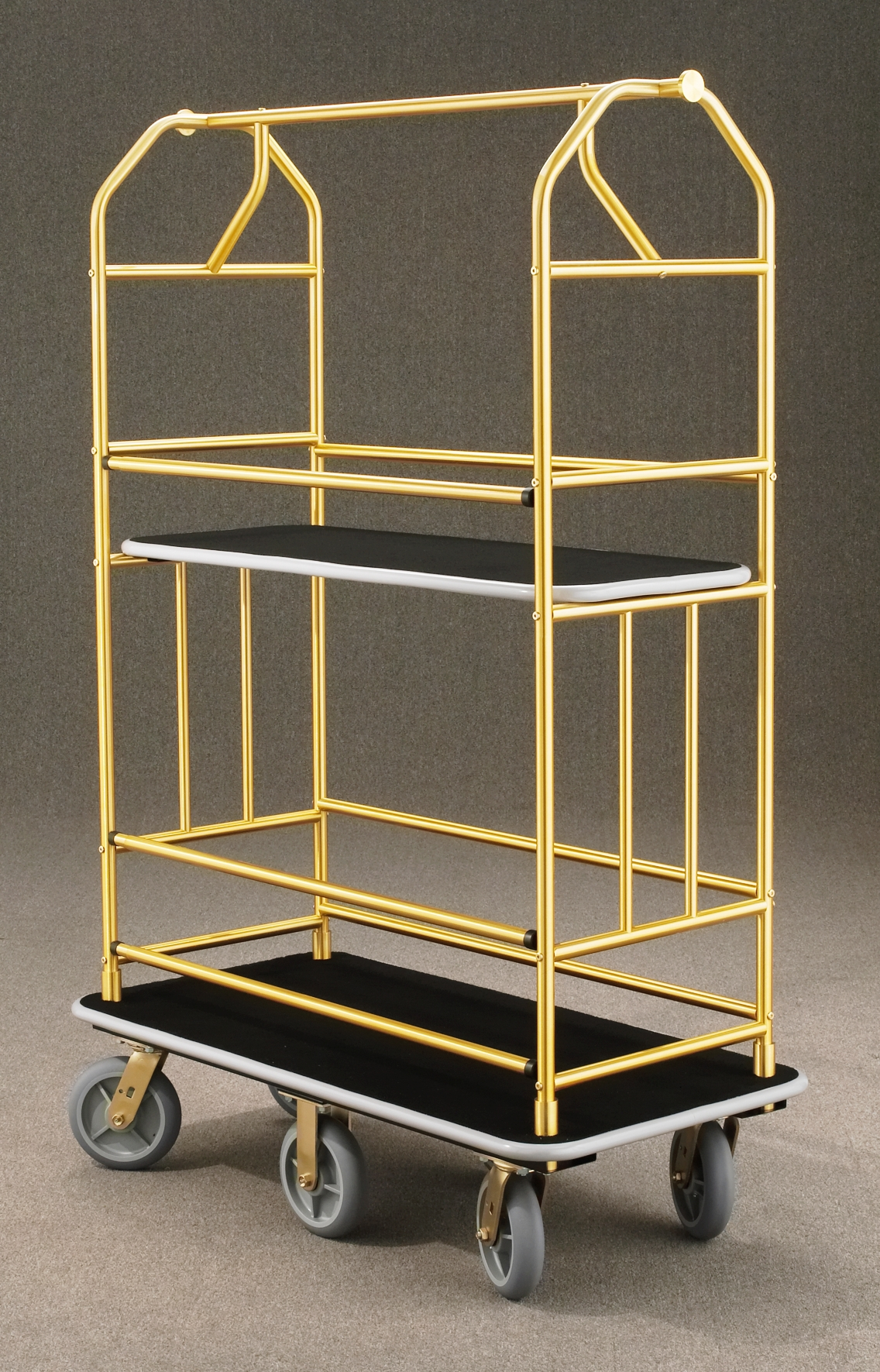 5460BE Satin Brass Bellman Cart