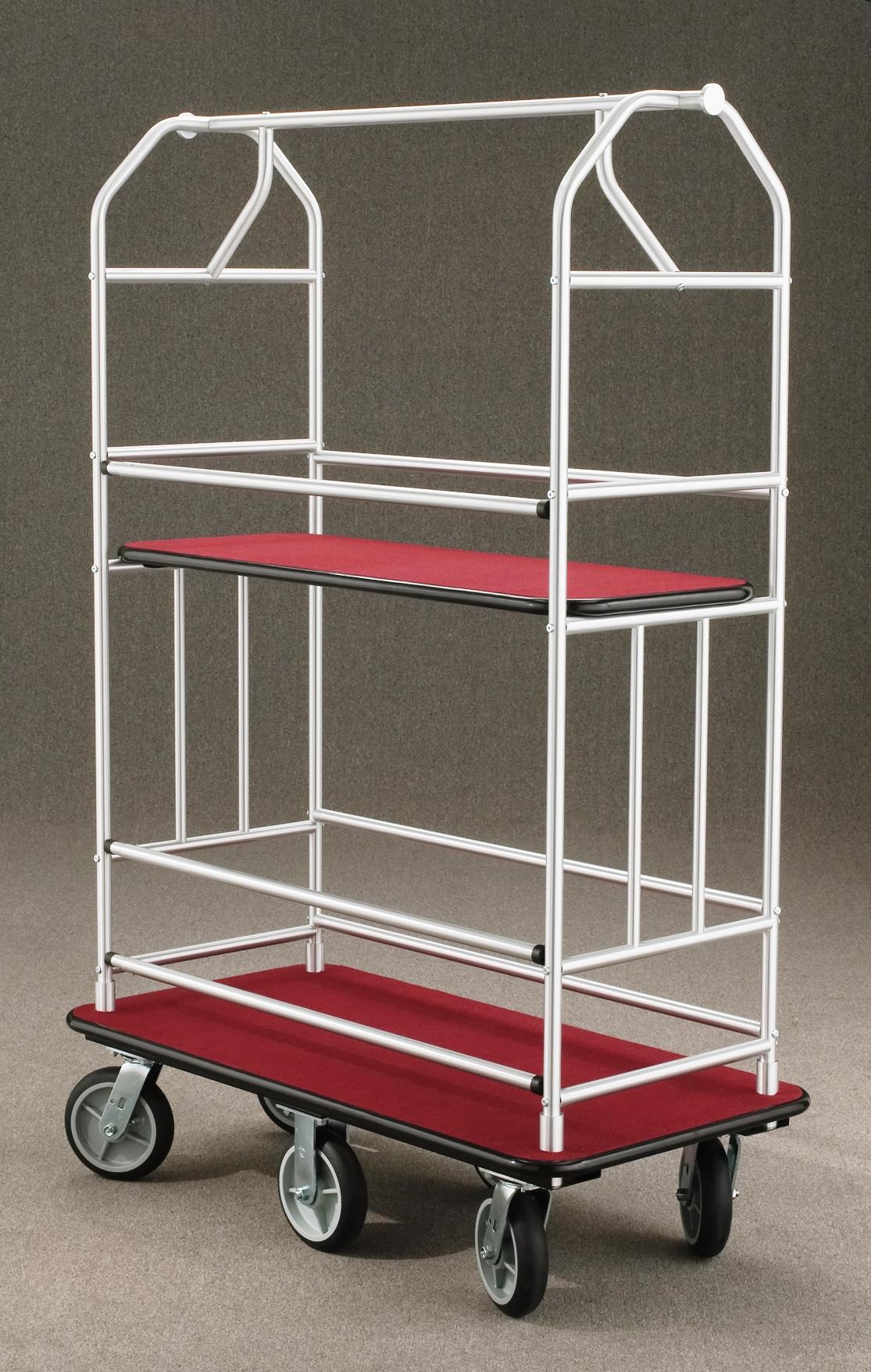 5460SA Satin aluminum Bellman Cart