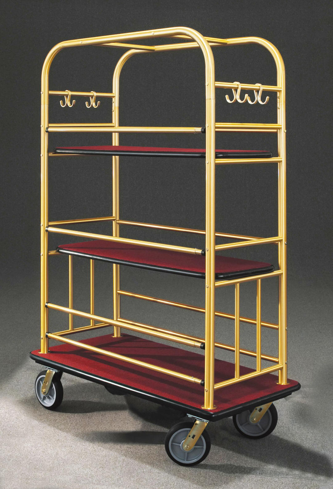 6448BE Satin Brass Bellman Cart