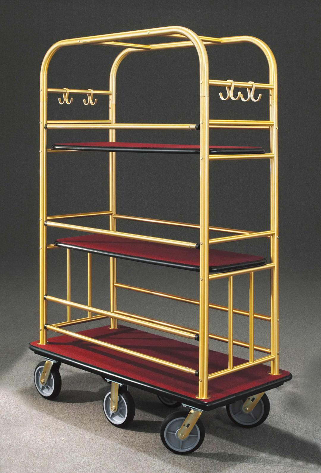 6648BE Satin Brass Bellman Cart