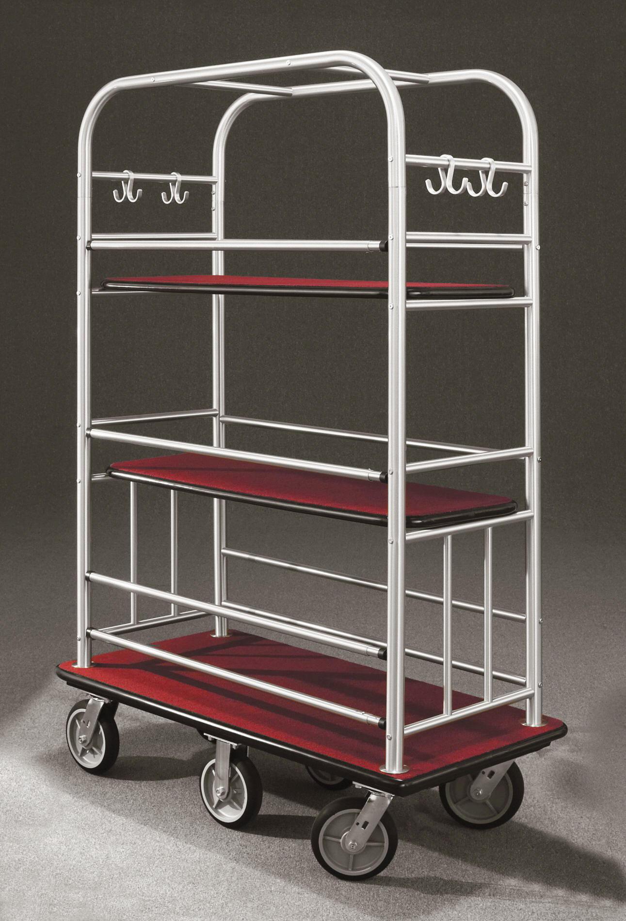 6448SA Satin aluminum Bellman Cart
