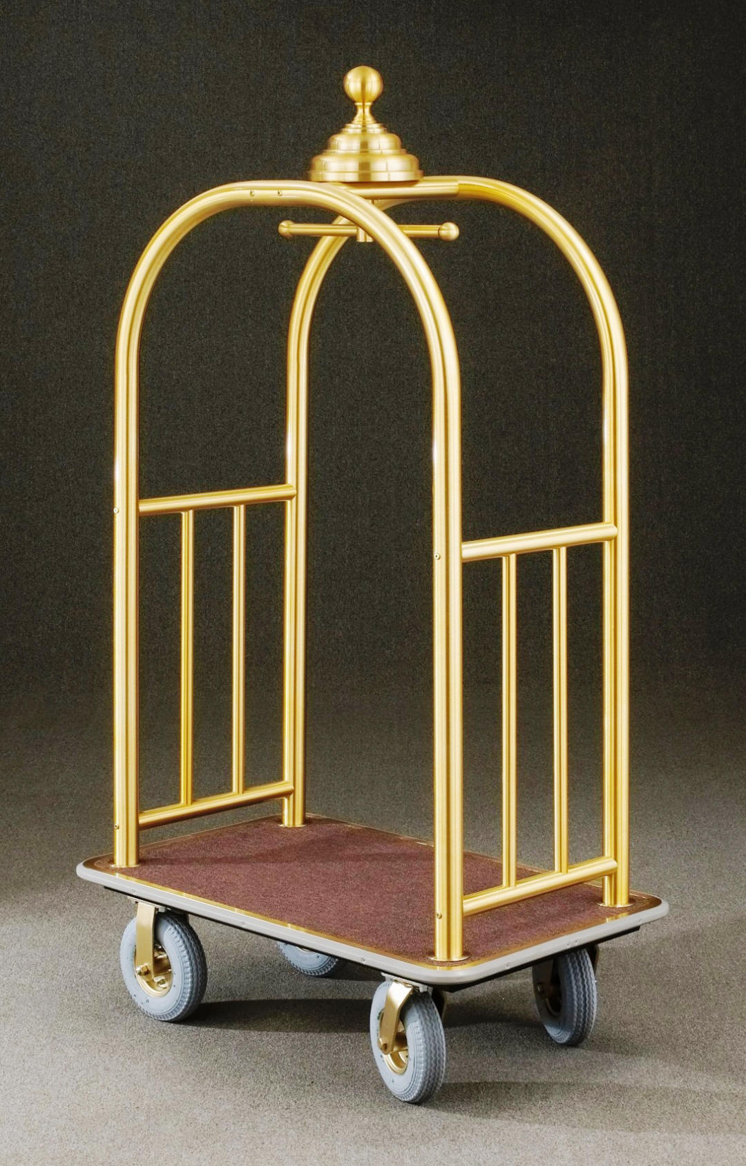 8840BE Satin Brass Bellman Cart