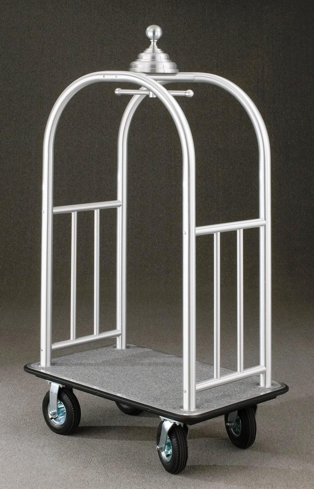 8840SA Satin aluminum Bellman Cart