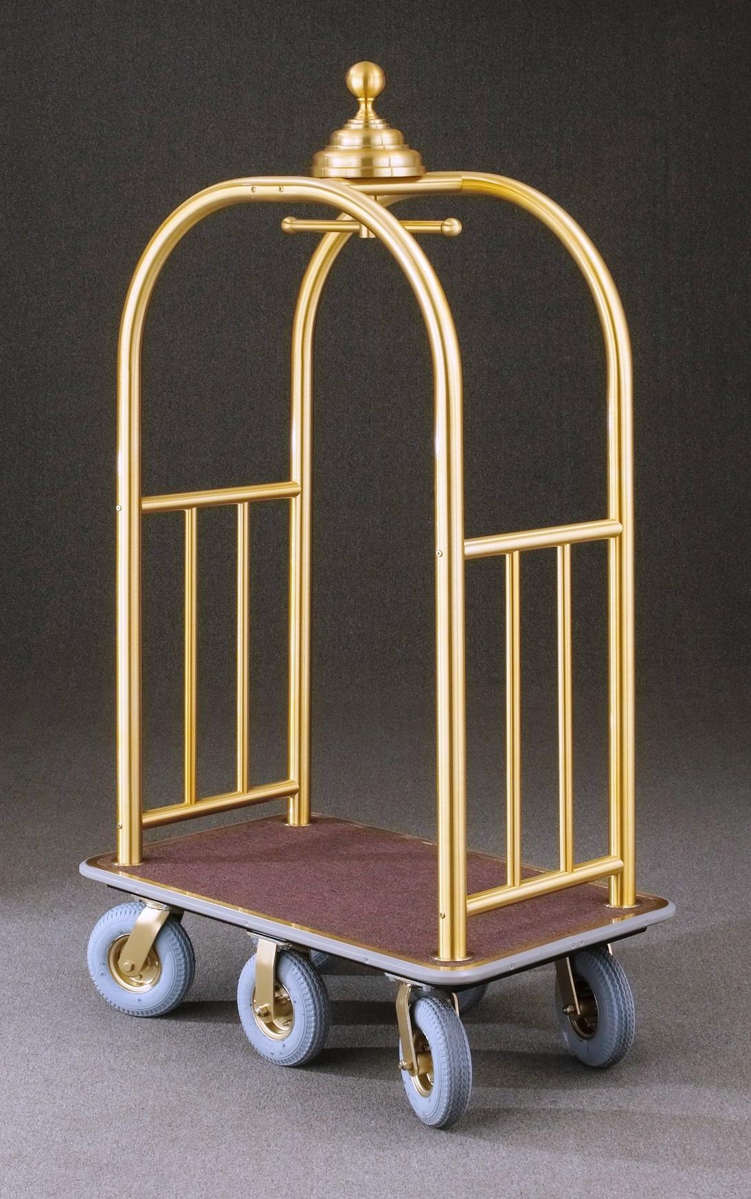 8860BE Satin Brass Bellman Cart
