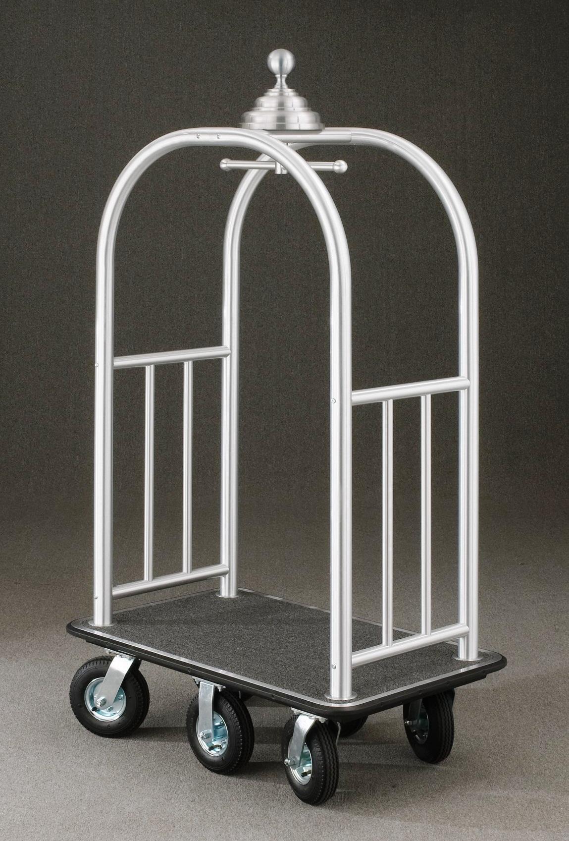 8860SA Satin aluminum Bellman Cart