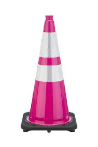 Bright Pink Cones for Valet Parking Lots