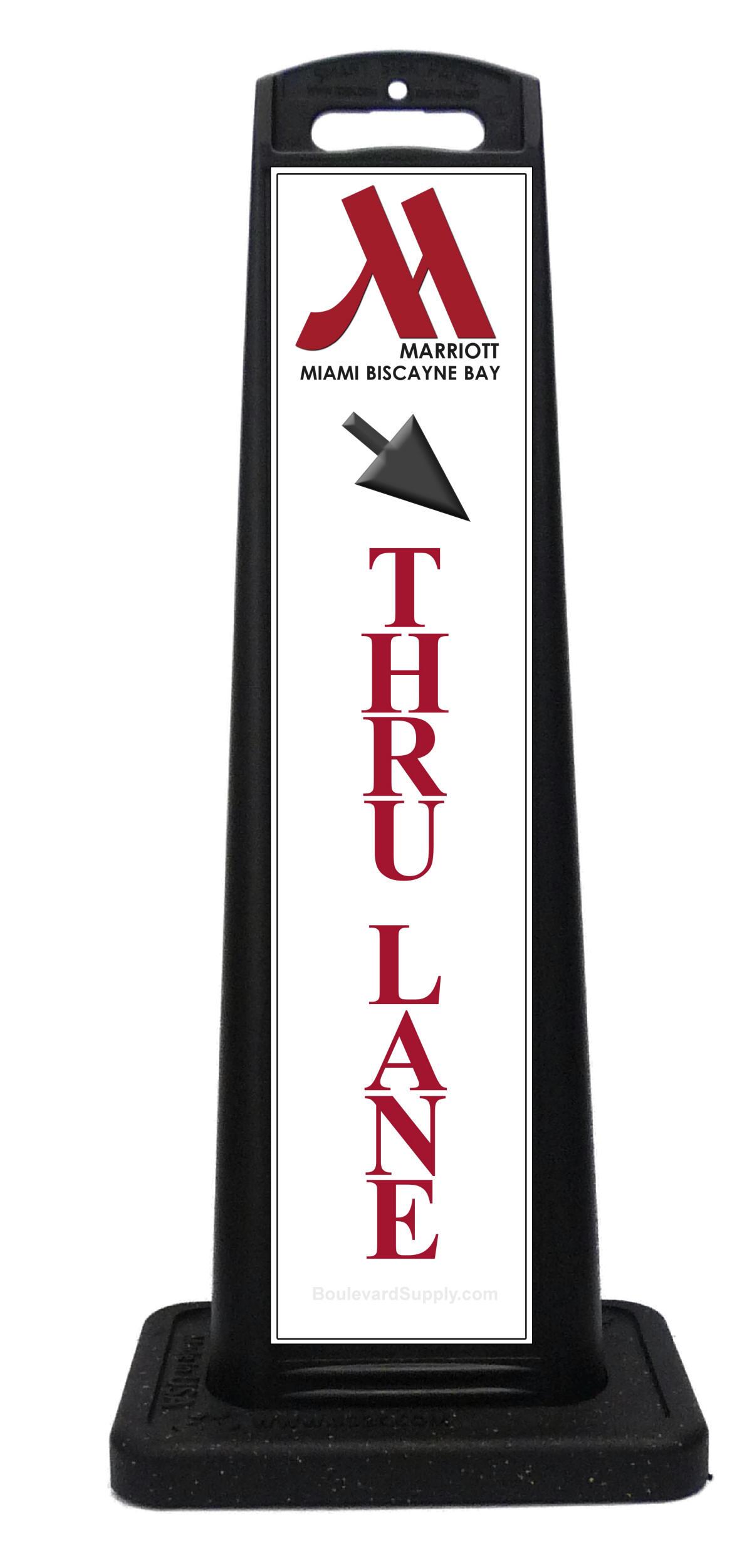 Thru Lane Sign