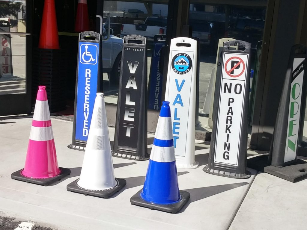 Valet Parking Lot Cones