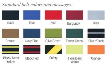 Retractable Stanchion Belt Colors