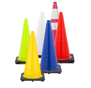 Bright Yellow Safety Cones